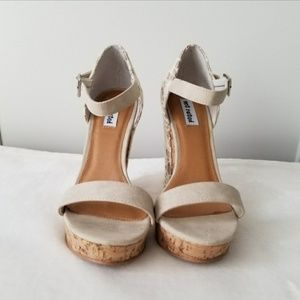 Not Rated Glitter Lace Wedges